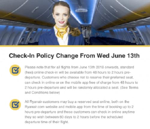 Ryanair: Check-in μόνο 48 ώρες πριν από την αναχώρηση | Δες τις αλλαγές